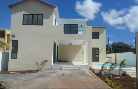 Newly built villa with modern architecture